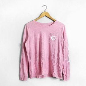 VINEYARD VINES Pink Long Sleeve Graphic Top